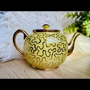 Sudlow's Burslem England Gold Squiggle Tea Pot